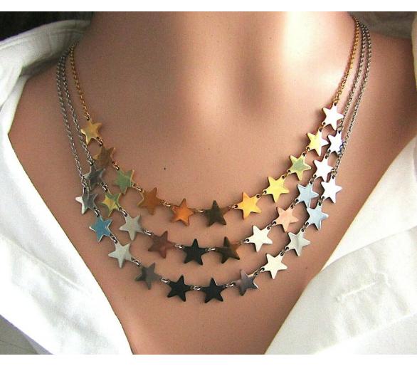 Collana girocollo stelle grandi